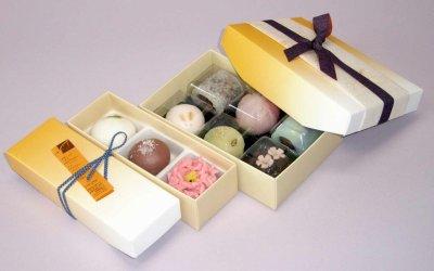 画像1: 和菓子函こはくW-こはく/3個入/4個入