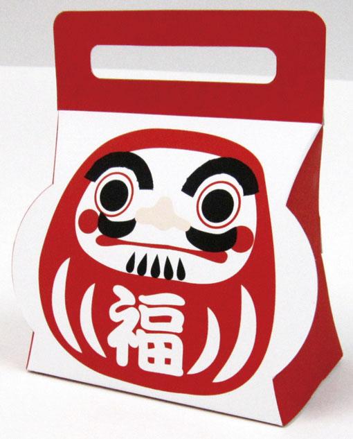 画像1: 【迎春早割り20%OFF】招福キャリーBOX/1つ77円→61.60円 (1)