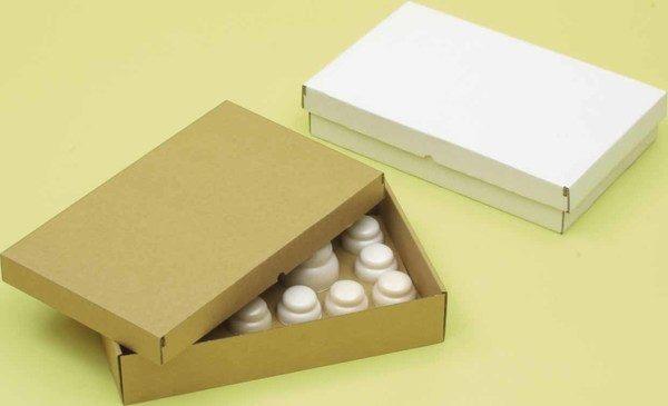 画像1: 【お問い合わせ欄より受注受け付けております】紙製ばんじゅう(番重)白/茶 (1)